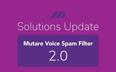 New Release:  Mutare Voice Spam Filter Sept 2020 2.0