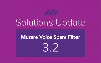 New Release: Mutare Voice Spam Filter Jun 2021 3.2